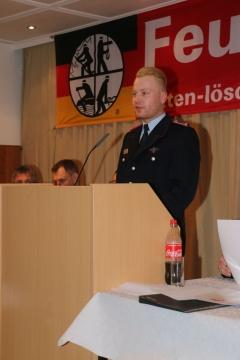 Stellvertretender Ortsbrandmeister, Domenic Schweder