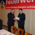Ernennung zum Feuerwehrmann: Marcel Mattes