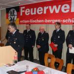 Brandabschnittsleiter Horst Holderith bei den Beförderungen