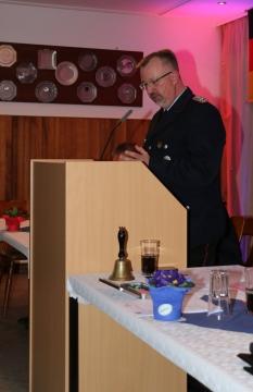 Ortsbrandmeister Torsten Helfers bei seinem Bericht
